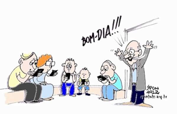 família e o vício em celulares